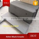 Hebei Black Granite Flamed and Brushed Finishing Floor Tiles