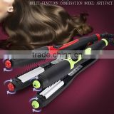 Flat iron hair straightener with teeth Hair straightener with removable comb rolling hair straightener