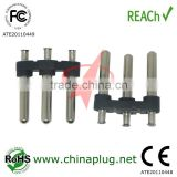 New Products for 2013 6-10A/250V MID-EAST AC Power jack plug insert with 4.0mm Pin diameter