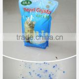 eco-friendly high adsorption dust free 1-8mm with 5% blue 3.8L packing silica gel cat litter