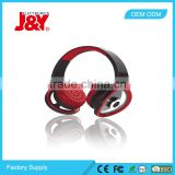Wholesale Retractable Over-ear Headsets with Deep Bass,long distance bluetooth headset /JY-H288
