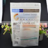 food grade cooked food packing vacuum high quality heat seal composite plastic bag with zipper