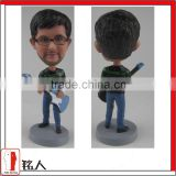 custom your bobble head by 100% handmade guitar player