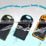 Climber hooking solar charge power bank