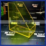 China supplier yellow acrylic book display stands / acrylic brochure holder stand rack for sale