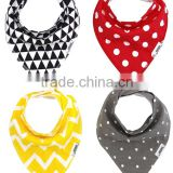 hot sale high quality baby bandana bibs Unisex 4-Pack baby cotton bibs, Cute Baby Gift for Boys & Girls