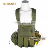 Olive Drab Military Chest Rig Ammo Vest With Hydration System