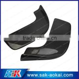 2PCS Carbon Fiber Front Bumper Spoiler Lip Unviersal Fit To All Cars