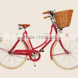 "City Bike woman 26"" road bicycles with basket and light women city bicycle KB-CB-M16010"