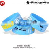 Blue baller band | party baller bands | holiday baller bracelet | festival silicone baller band