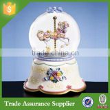 Custom souvenir gift wedding favors kit transparent carousel snow globe                                                                         Quality Choice