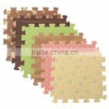 floral design flower print interlocking mat eva foam floor tile