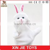 rabbit hand puppet custom made plush bunny hand puppet hot sale kids hand puppet