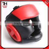 PU Leather Boxing Headgear MMA Head Guard Red and Black Sparring