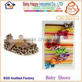 2014 new style hot leopard print baby shoes headband