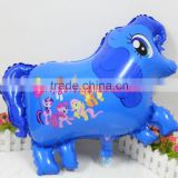 New design 67*49cm blue colorful pony animal shape balloon for wedding decoration and party supplies globos