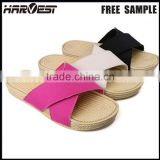 Cheap clean fold lady couple couple slipper ,fold lady flip flop strip platform eva massage woman