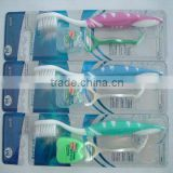Adult soft nylon66 bristle tooth brush with dental floss