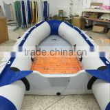 4.5m long pvc folding aluminum floor inflatable speed boat new design