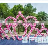 2016 newest wedding stage backdrop flower fancy backdrop design for sale