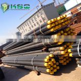 High Steel DTH Drill Pipes for Rock Drilling Tools , Steel Drill Pipe with 4 Wrench Flat on Both Connection
