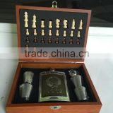 9oz light wine pot and zinc alloy CCCP and the cup and funnel and chess on the wooden box packaging