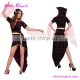 Big Stock Funny Caribbean Moon Printed Black Dress Brazilian Carnival Costume