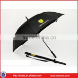 Promotional fashion fiberglass golf stick umbrella