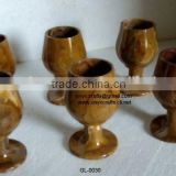 Brown Onyx Wine Glass Set of 6pc in cheap price