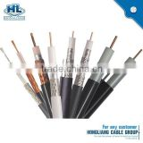 RG-6U with telephone wire coaxial cable BC conductor 1.02mm solid PE Al foil AL-Mg wire braid PVC jacket coaxial cable