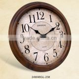 24 inch wooden material retro large industrial wall clocks (24W46GL-238)