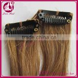 Factory price virgin clip in extensions wholesale virgin brazilian hair weaving for black women