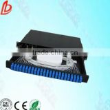 2014 best selling 2U 19 inch Rack-mount 24 ports Drawer type fiber optic patch panel with sc/fc adapter