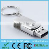 USB Flash with key ring swiveling USB Drives 8 gb Metal Mini USB Flash Drives Wholesales Bulk
