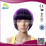 New Stock Heat Resistant Fibre short braid hair bun synthetic hair wig