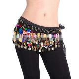 Dancing Coin Chain Sequin Belly Dance Hip Skirt Scarf Wrap Belt Waistband