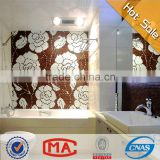 ZTCLJ JY-P-W08 Bathroom Wall Brown Flower Mosaic Glass Backsplash Tiles Wholesale Mosaic Tile