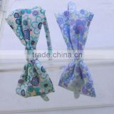fashion fabric covered hairbands with floral printed fabric bow