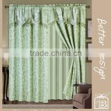 Luxury Valance Blackout Curtains For Living Room In Cheap Price