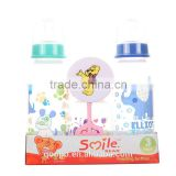3PK with baby rattle tor baby feeding bottle gift set