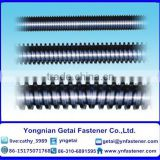 Carbon steel H.D.G / Electrical Galvanized screw rods with black /yellow zinc plated/blue white