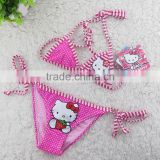 professional factory kids string bikini, Girls Swimwear kitty