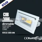 20w 30w adjustable led gimbal downlight led shop light
