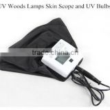 UV black light Woods lamp B601Personnal Care Facial Skin Analyzer UV Skin Analysis Handheld Facial Wood Lamp for Skin Analizer