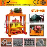QTJ4-40 concrete brick making machine block shaping equipment hot selling product in Sri Lanka price list