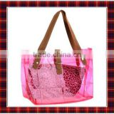 Transparent Plastic Handbag | Plastic Handbag for Shopping | Plastic Ladies Handbag | Leopard Handbag (BTYB002)