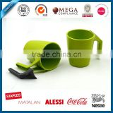 2016 Selling well ecological corn starch bamboo fiber cup for drink