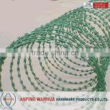 Best quality 2015 hot sale PVC Coated Razor Barbed Wire for Sale/Razor Blade Wire(factory)