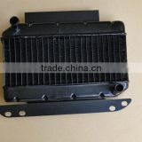 Aluminum bar and plate engine oil cooler for motorcycles, auto, car vehicles