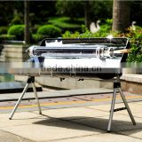 Portable solar barbecue stove outdoor household self driving folding grill fashion creative rack solar grill